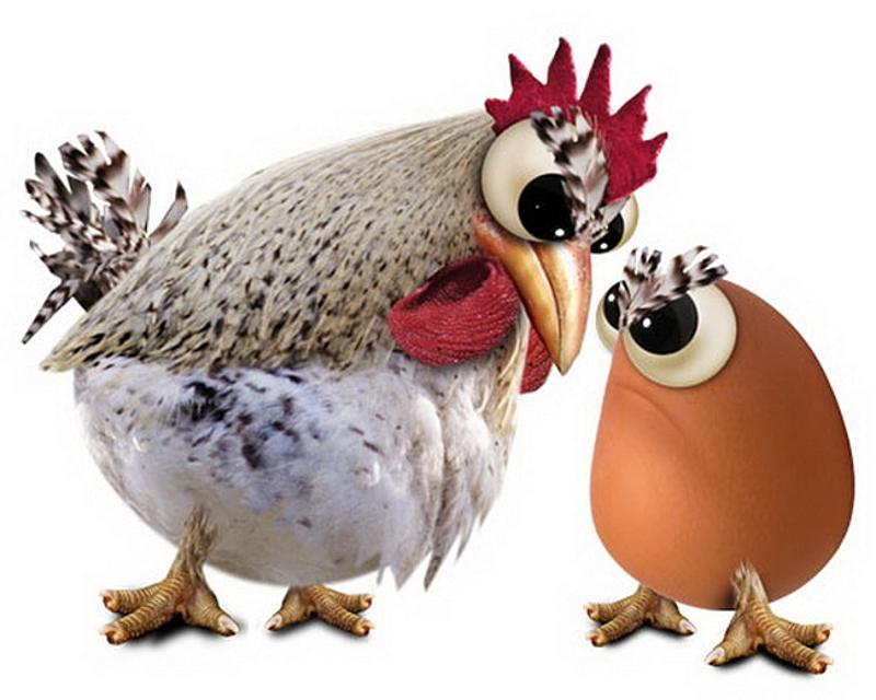 яйцо или курица, что было раньше яйцо или курица