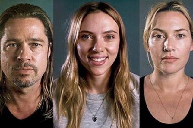 Скарлетт Йоханссон, Брэд Питт и Кейт Уинслет показали себя ... скарлетт йоханссон без макияжа
