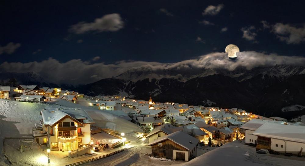 красивые зимние города, зимние города, фото