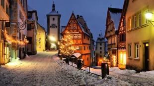 красивые зимние города, фото