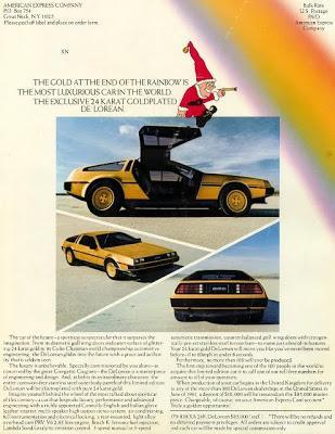 Позолоченный DeLorean, позолоченный делориан, золотой DeLorean, постер