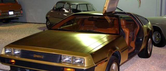 Позолоченный DeLorean, позолоченный делориан, золотой DeLorean, фото