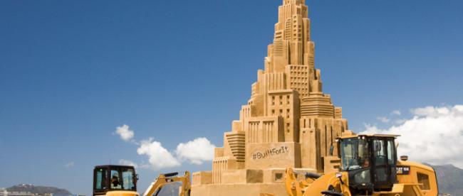 Самый большой в мире замок из песка, фото