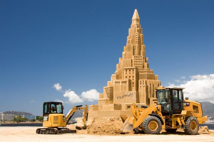 Worlds Tallest Sand Castle